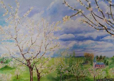 Blomstrende frugttræer