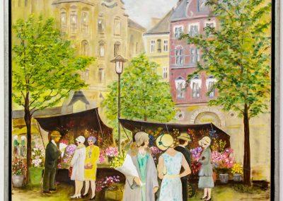 To kvinder i samtale på Højbro Plads